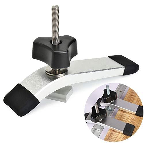 Faderr Metall-Schnellspannklemmen-Set, 8 mm, schnell wirkende Klammern, Werkzeuge aus Metall, Holzbearbeitung für T-Schlitz T-Schiene (Silber), silber, Free Size