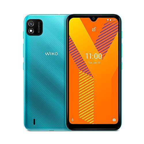 """WIKO Y62- Smartphone 4G de 6'1"""" (3000mAh de batería, Dual SIM, dieciséis GB(Gigabyte) de ROM, Quad Core 1,8GHz, cámaras de 5MP, Android™ once Go Edition) Mint"""