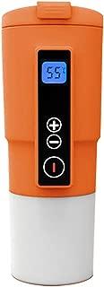 12V Smart Electric Shelf Heating Travel Coffee Mug for Car Smart Heated Coffee Warmer Cup on the Go(Orange)