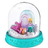 Polly Pocket Mini Snow Globe Winter Christmas 8 x 8 cm Dog Sled Playset