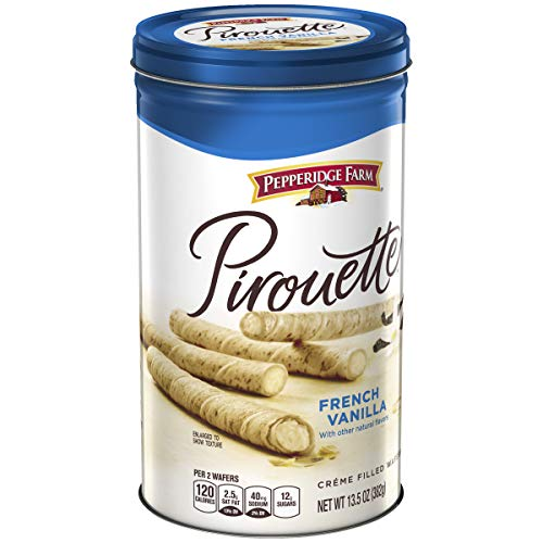 Pepperidge Farm Pirouettes French Vanilla Cookies 13.5 Ounce Tin
