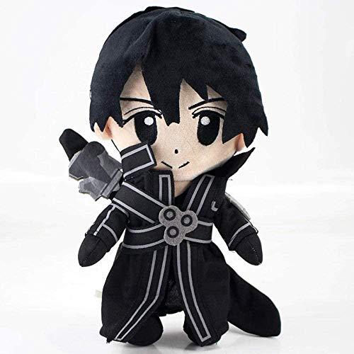 Espada Online Arte Kirigaya Kazuto Kirito Yuuki Asuna Peluche Juguetes Anime Sao Dulce Felpa muñecas niños-25cm Kirito
