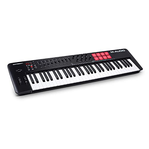 M-Audio Oxygen 61 MKV - Teclado controlador MIDI USB de 61 teclas con...