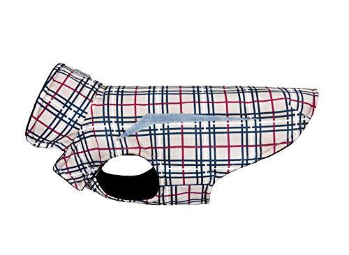 RC Pet Products 67414069 Shasta Jacket Fleece Lined Dog Coat, Tan Tartan, 14