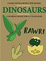 Coloring Book for 4-5 Year Olds (Dinosaurs)