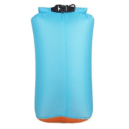 Saco seco ligero impermeable para mochileros, kayak o viajes de aventura y todos los deportes acuáticos, cierre hermético enrollable para una compresión máxima