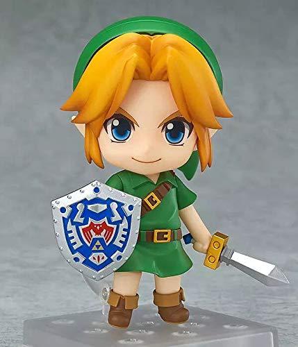 SuperB The Legend of Zelda: Majora's Mask 3D Link Nendoroid Action Figure Handmade PVC Model, Otaku and Anime Fans' Favorite 100mm High Boxed