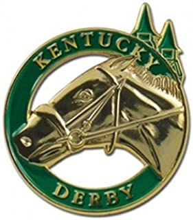 Indiana Metal Craft Kentucky Derby Horse Head and Spires Gold Lapel Pin. KLPKD1G IMC-Retail