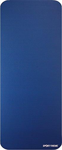 Sport-Thieme Gymnastikmatte Premium | Schadstofffreie Fitnessmatte, Trainingsmatte, Yogamatte | Blau | LxBxH: 190x80x1,5 cm | geschlossenzelliger Spezial-Schaumstoff | 2,4 kg