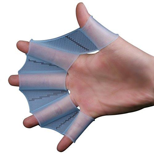 Webetop silicone Swim Gear Pinne mano palmato Pinne Formazione Guanto per il nuoto, surf, immersioni subacquee, M