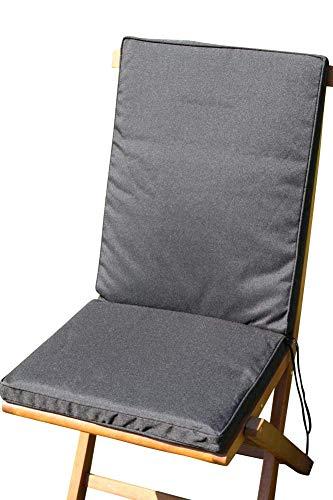 Garden Market Place Coussin de siège et Dossier pour Chaise de Jardin Noir 95 x 45 x 35 cm