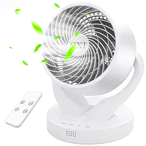 GXI Air Circulator Fan Oscillating Room Fan Table Fan with Remote Control Room Fan 4 Speed Oscillating Fans for Rooms 15h Timer Table Fan for Bedroom, Home, Dorm, Office