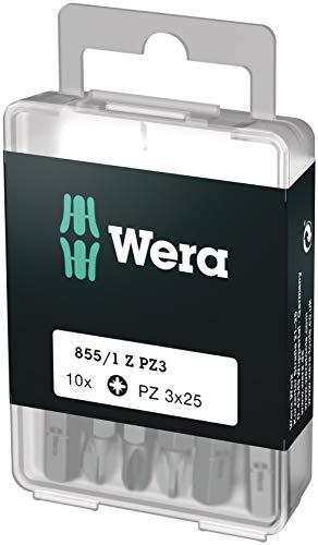 Wera Bit-Sortiment, 855/1 Z PZ 3 DIY, PZ 3 x 25 mm (10 Bits pro Box), 05072405001