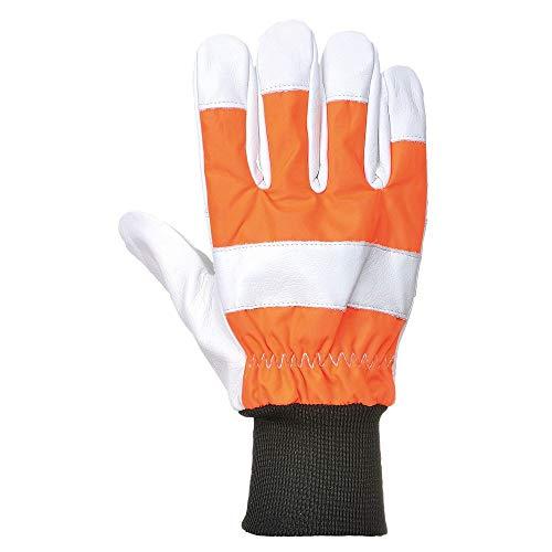 Portwest A290ORRXL eiken kettingzaag beschermende handschoen, regelmatig, grootte: X-Large, Oranje