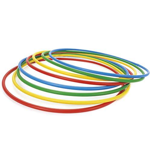 MIDOFF Huppa Hulla Ring/Hula Hoop Exercise Ring/Exercise Ring Collapsible Kids Huppa/Hula Ring Exercise Ring for Aerobics,Gymnastic & Weight Loss Set of 5 (24)
