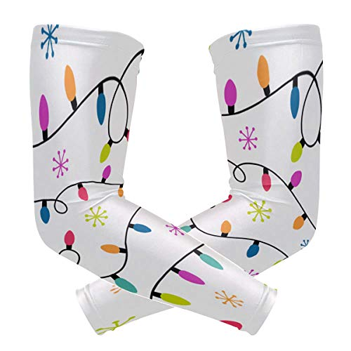 Sports Athletic Arm Sleeve Holiday Christmas Snowflake Romantic Trinkets Exquisite Vintage Print Compression Sleeves Arm Warmer Moisture Wicking Uv Protection For Sunblock Protective Gloves Sleeves