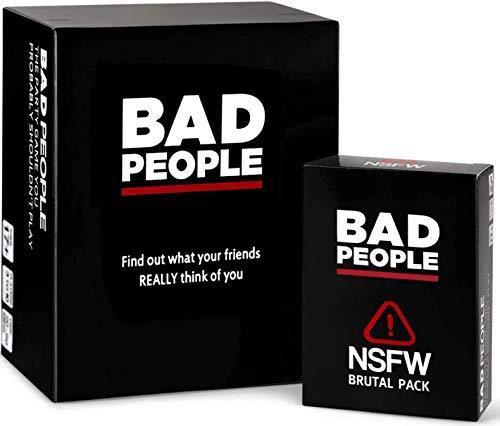 MYJULY Personas Malas: el Juego de la Fiesta, Probablemente no deberías Jugar + el Paquete de expansión Brutal de NSFW