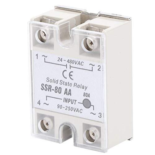 Relais SSR-80AA AC-AC SSR AC-AC-Steuerung Berührungsloser Schalter Halbleiterrelais Angemessene Struktur für Industriebereiche
