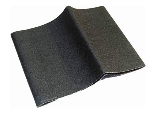 ILC MERCERIE PARADIS Percale Thermocollant -12 x 45 cm - Pièce De Réparation Thermo Adhésive Tous Tissus. (Plusieurs Couleurs au Choix) (Noir)