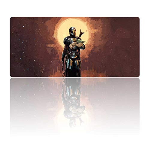 Gaming Mouse Pad XL,Extra Large Gaming Mousepad Laptop Desk Mat,Non-Slip Rubber Base,Stitched Edges,Smooth Fabric Design,Computer Keyboard and Mice Combo Pads for Office Home Game,31.5x11.8