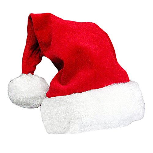 Peluche di Natale cappello festival di Natale a forma di Babbo Natale adulto Fancy Dress Up accessori rosso