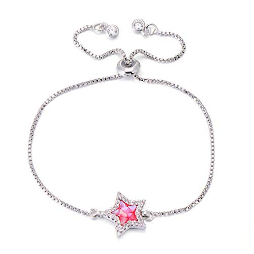 Jewellery Bracelets Bangle For Womens Unique Colorful Natural Shell Zircon Star Bracelet Rose Gold Color Chain Charm Bracelets Jewelry For Women Girl Silver