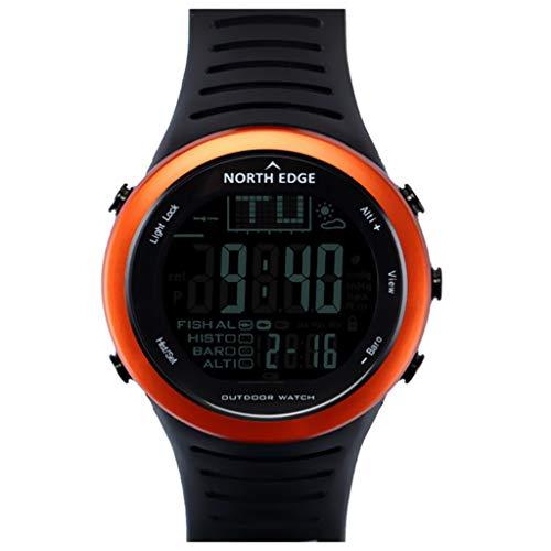 perfeclan Sports Watch Reloj de Pulsera Impermeable con Correa de Silicona Regalo para Correr,Nadar,Practicar Senderismo,Pescar - Naranja