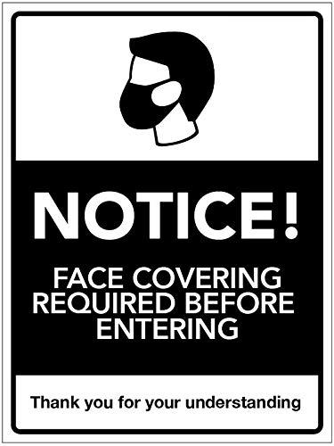 Avviso: copertura del viso richiesta prima di entrare