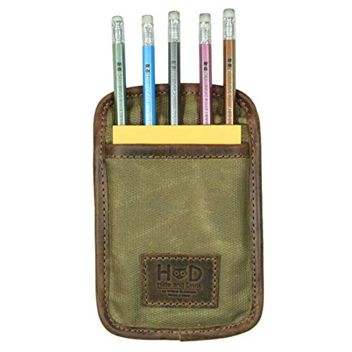 Hide amp Drink Waxed Canvas Utility Marker Pouch Pocket Organizer Pen Holder Stationery Accessories Handmade :: Fatigue