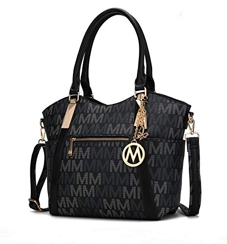 """CASUAL & STYLISH. The Jeneece """"M"""" Signature is casual enough for work and shopping, but cute enough for a night out. Choose a color that matches your dress or outfit and take on the day with confidence. SPACIOUS TOP ZIPPER PURSE. Our large shoulder b..."""