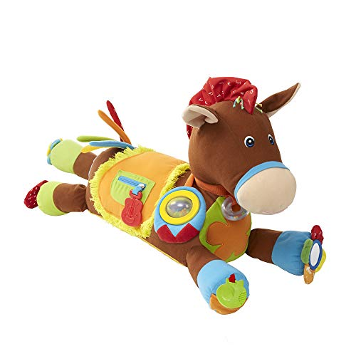 Melissa & Doug K's Kids Hoppe-Hoppe-Reiter Multisensorisch paard - zacht pedagogisch babyspeelgoed