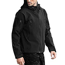 top rated FREE SOLDIER Men's Outdoor Waterproof Military Tactical Hooded Jacket (Black, Large / US) 2021