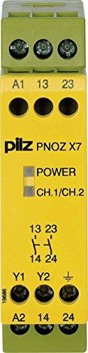 Pilz Not-Aus-Schaltgerät PNOZ X7#774055 120VAC 2n/o PNOZ X Gerät zur Überwachung von sicherheitsgerichteten Stromkreisen 4046548012347