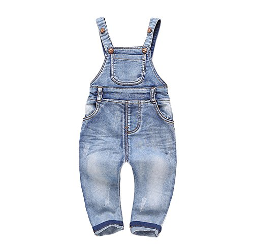 Kidscool Baby & Little Boys/girls Plaid Lining Denim Overalls Jeans, Style3, 6-12 Months