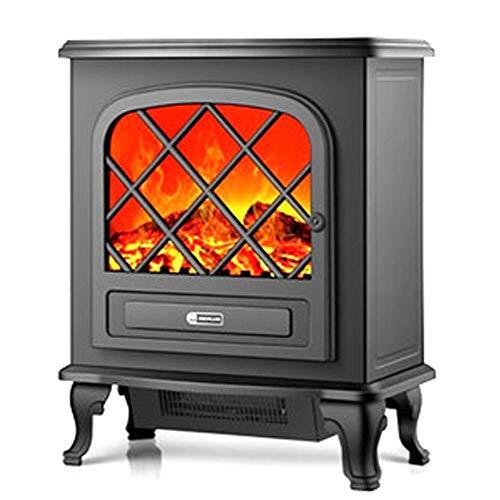 WYZXR Estufa eléctrica, calefacción por Chimenea con Efecto de Llama Realista, 2 Modos de Calor, protección contra sobrecalentamiento de Potencia ultrapotente de 2000 W