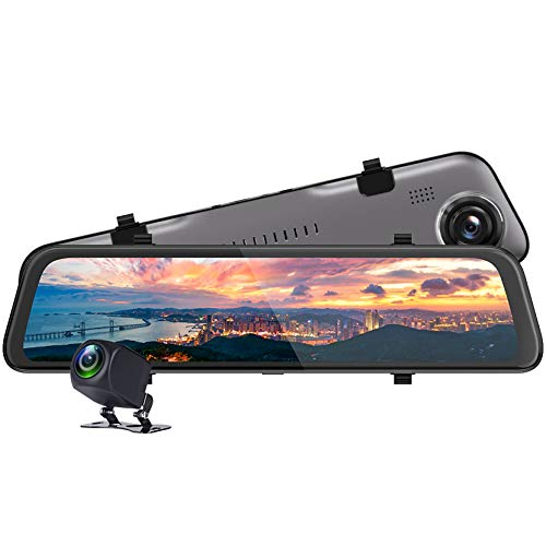 LPWCAWL 12-Zoll IPS Touchscreen Dashcam, 2K+1080P Dual Lens Autokameras mit 170° Weitwinkel, Nachtsicht, G-Sensor, Loop-Aufnahme, Parkmonitor