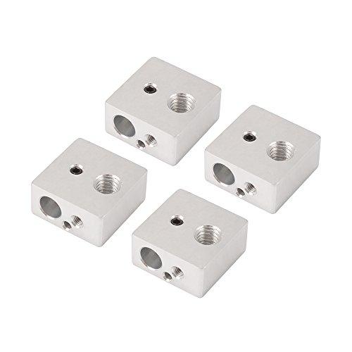 4 pcs Aluminum Heater Heating Block Dedicated for Makerbot MK7 MK8 3D printer Extruder Hot End