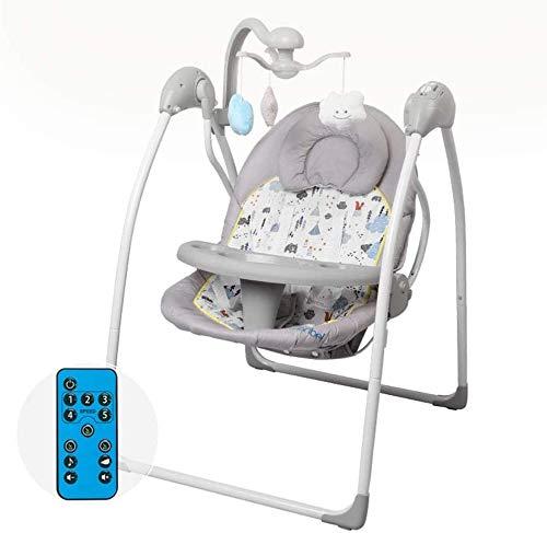 Columpio rocker swing Silla mecedora del bebé | Showing silla de gorila con estante de juguete y suplemento alimenticio Asiento de la placa de la cena | Iluminación musical ajustable Control i