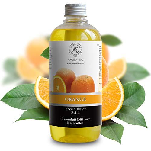 Navulling Sinaasappel 500ml met 100% Puur en Natuurlijke Essentiële Sinaasappel Olie - Intensief & Langdurig Aroma Natuurlijk voon Aromatherapie - Diffuser - Luchtverfrisser - Huisparfum - Geurolie - zonder Alcohol - Refill Orange