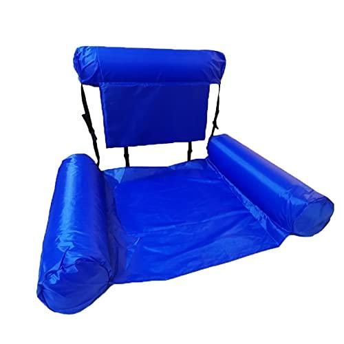 ANLKUJHF Hamaca inflable de agua para tumbona, ligera y plegable, para fiestas de agua o piscina, playa