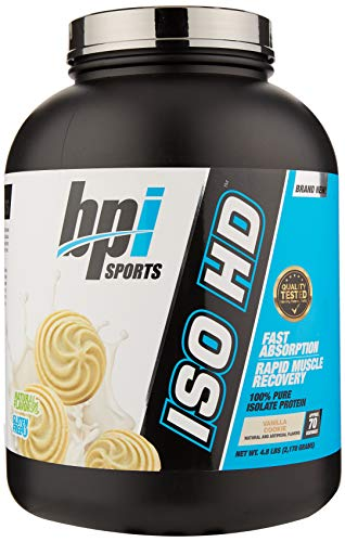 Bpi Sports Iso-HD Supplement, 5 lbs, Vanilla Cookie