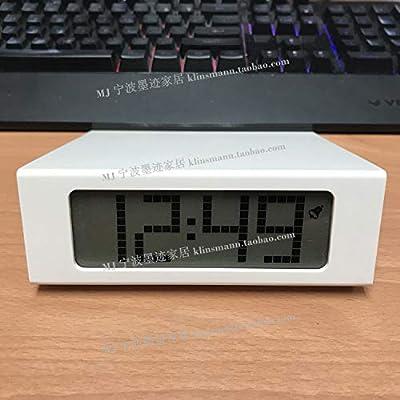 LTOOD Personalidad Creativa Simple, silencioso, Despertador, Reloj Digital, cabecera, estantería,