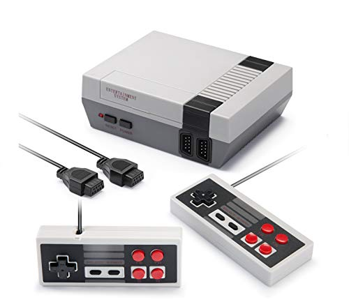 620 Retro Classic Video Game Console, Weikin Handheld Game Console Mini NES Console 620 in 1, Built-in Plug and Play Video Games AV Output with 2 Controllers for Kids & Adults