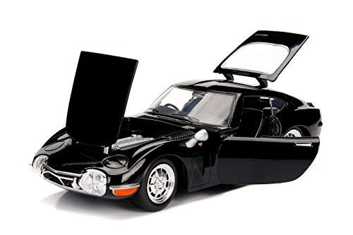 1967 Toyota 2000GT Coupe Black JDM Tuners 1/24 Diecast Model Car Jada 99575