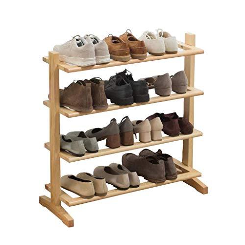 Gabinete organizador de almacenamiento de zapatero Estante de zapatos de hogar simple de múltiples capas Estante de almacenamiento de madera Montaje simple Material de protección ambiental Tiene capac