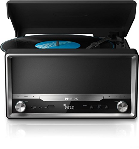 Philips OTT2000B/12 - Radio con Bluetooth y reproducción de vinilos