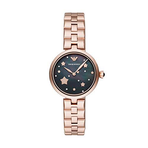 Emporio Armani Reloj Analógico para Mujer de Cuarzo con Correa en Acero Inoxidable AR11197