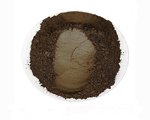 Poudre de mica cosmétique pour nail art, additif cire de soja, résine (50 g, marron)