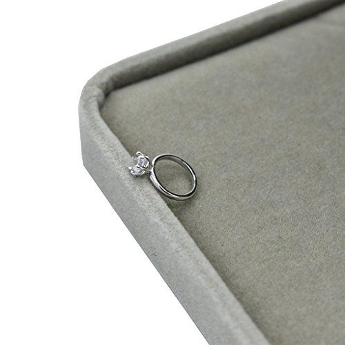 VIccoo Baby Fotografie Ring, geboren fotografie Props Faux Diamanten Ring Baby Shooting Photo Prop Sieraden - Zilver