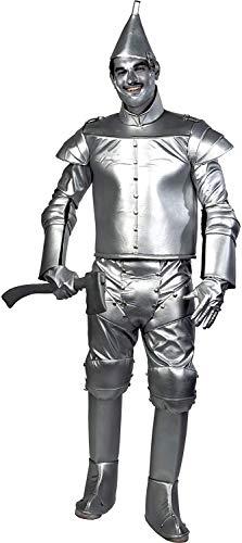 Charades Wizard of Oz Men's Tin Man Fancy Dress - Disfraz plateado M